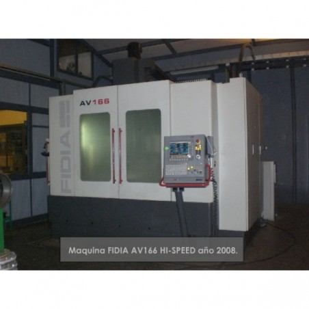 FIDIA AV166 HI-SPEED 3 axes + indexer (4th axis) 2008