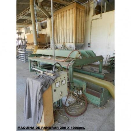 Machine grooving 200 x 100 cms