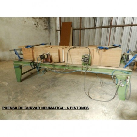 Press bending pneumatic with 6 Pistons