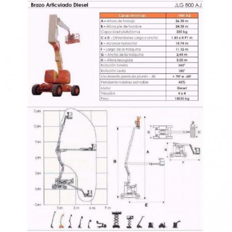 BRAZO ARTIC DIESEL 800 AJ, 26 M. JLG