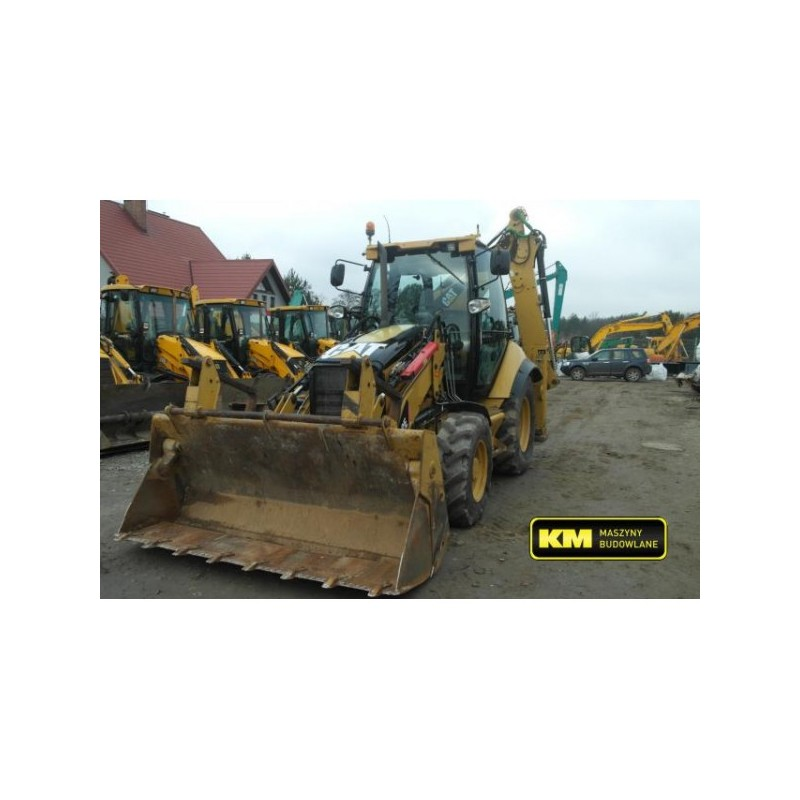retro excavadora Caterpillar 432E 2009